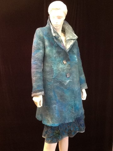 New York show: felted coat